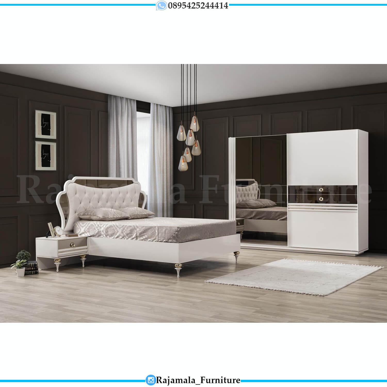 Desain Tempat Tidur Minimalis Putih Luxury Furniture Jepara RM-0223