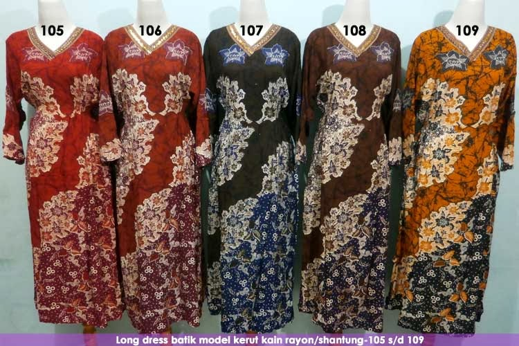 Long-dress-batik-murah-pekalongan