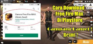 Cara Download Free Fire Max Di Playstore