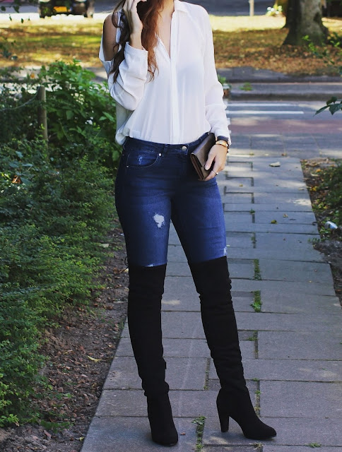 outfit knee high boots