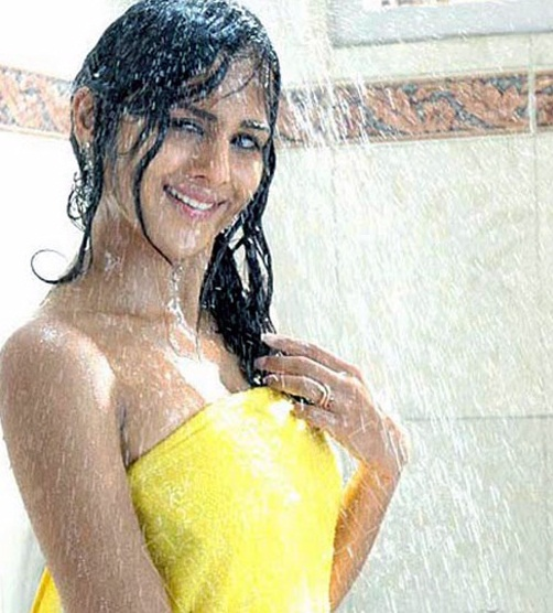Indian Actress Taking a Bath