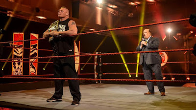 Brock Lesnar and Paul Heyman address a non-existent audience