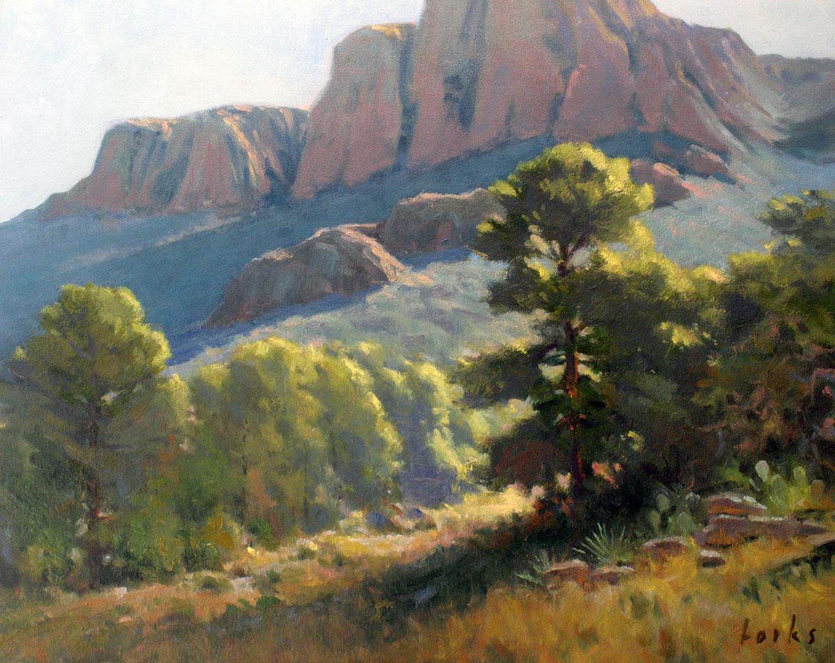 David Forks Texas Landscape Painter January 2013