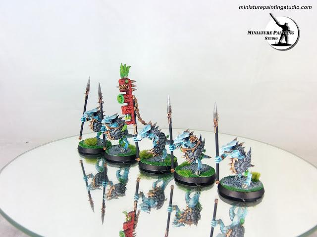 lizardman warhammer saurus warriors