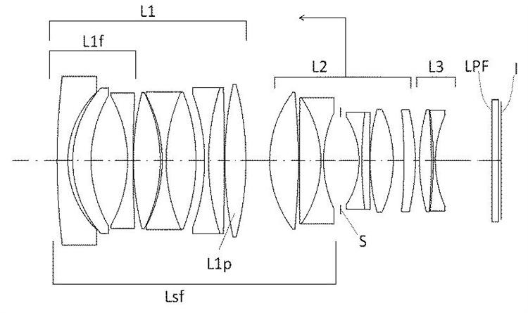 Оптическая схема объектива Sigma 28mm f/1.2
