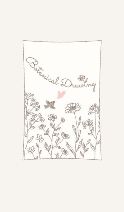 Botanical Drawing/Beige 13