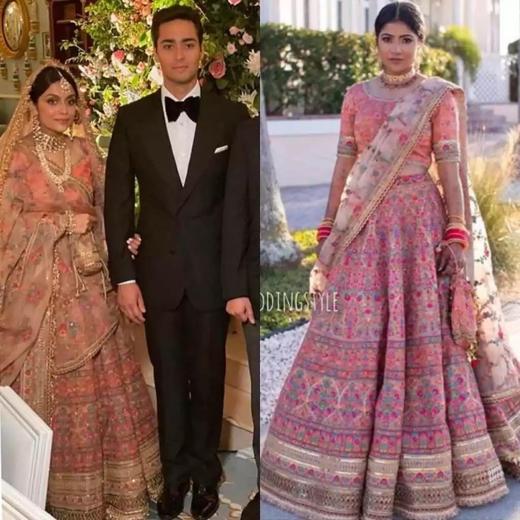 Ayesha saif wore Sabyasachi Mukherjee bridal lehenga on her nikah