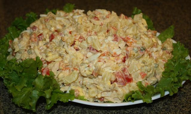 Salpicón de pollo (Boliviano) / Chicken salpicón (Bolivian)