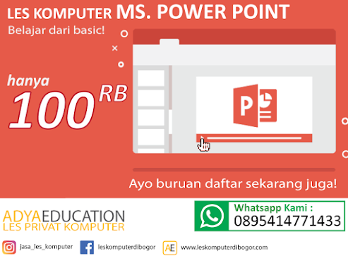 les komputer dasar ms. power point membuat presentasi sederhana - januari 2021