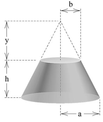 A forma da primeira espaçonave do programa Apollo era um tronco de cone circular reto