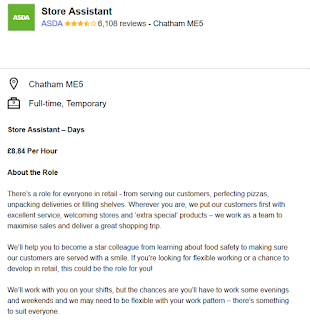 CHATHAM HIVE: Job Vacancy: Store Assistant, Asda at Chatham