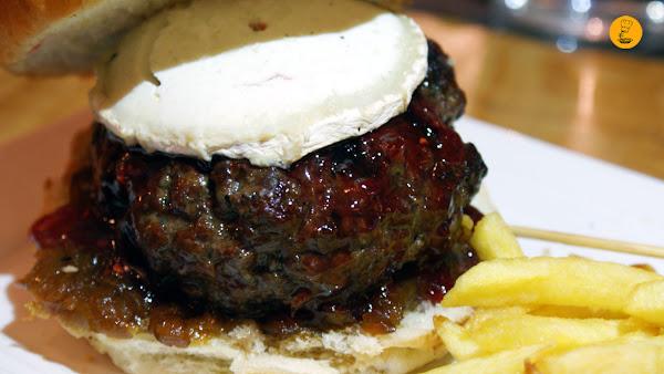Hamburguesa de queso de cabra en Gobu Burger, Gobu Burger Madrid