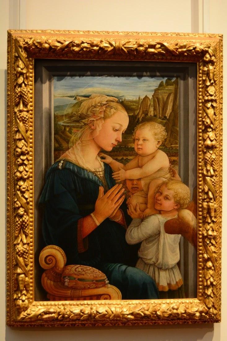 Fra Filippo Lippi - Vierge à l'enfant avec deux anges - 1465