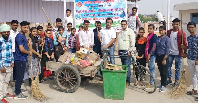 Nehru College students organized the Sanitation Campaign in Chandivali and Tilpat