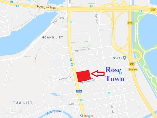 vị trí dự án ROSER TOWER