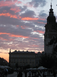 Main Market Square at dusk