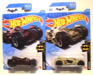 Dark Burgundy and Tan Hot Wheels Arkham Knight Batmobiles