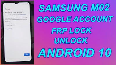 Samsung M02 Google Account Unlock-M02 FRP Reset