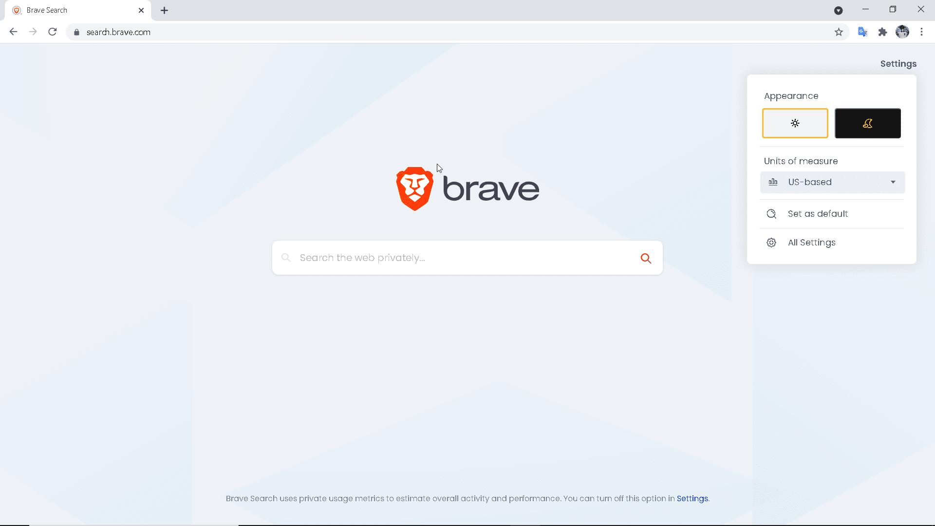Brave Search Engine Appearance - TechneSiyam