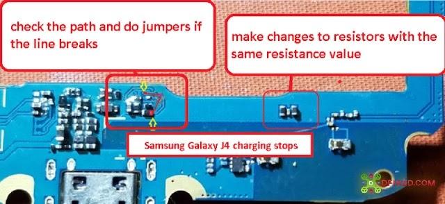 Samsung Galaxy J4 J400 2018 Pengisian Baterai Terhenti (Charging Stopped)