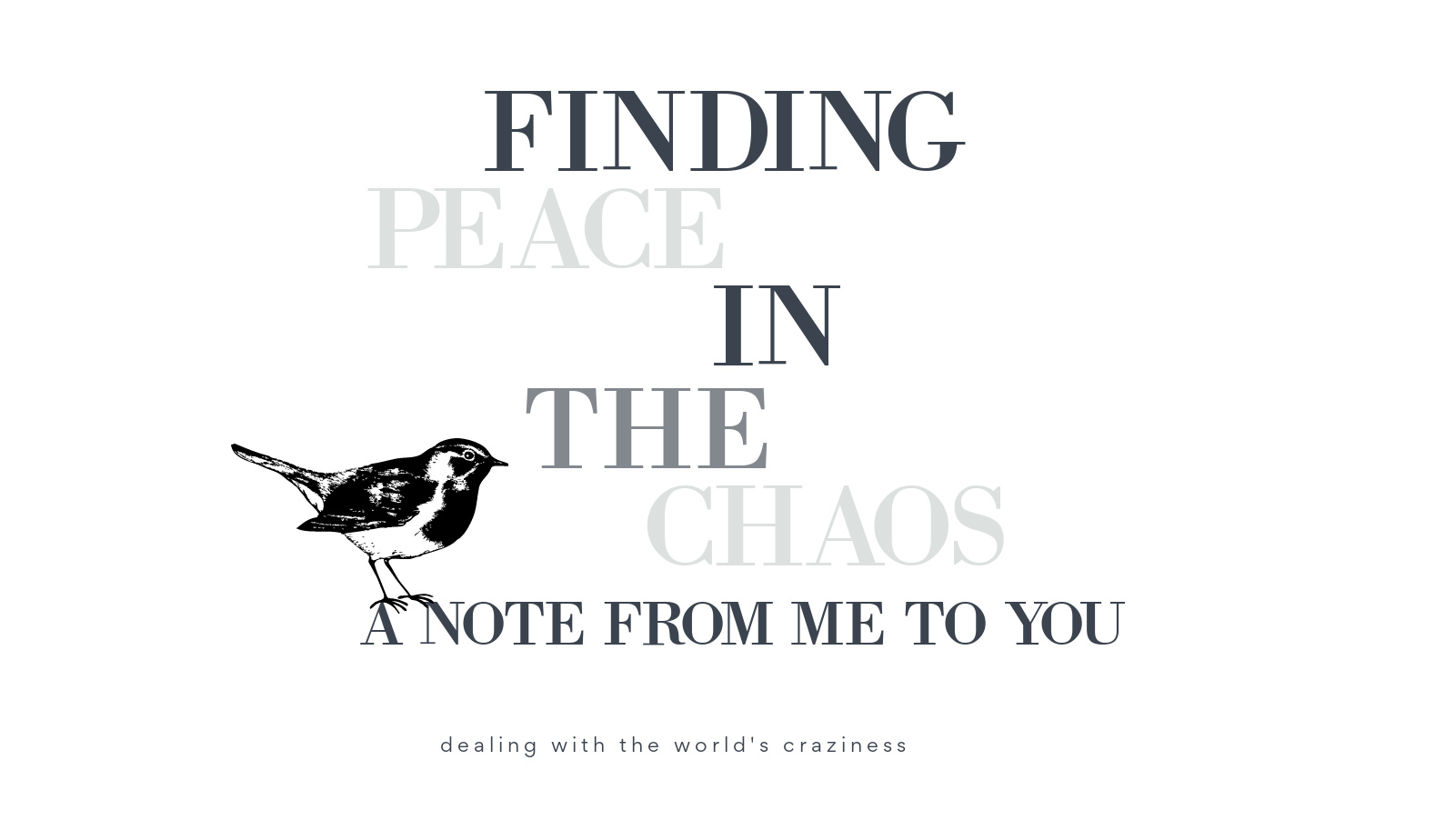 peaceinchaos - Discovering Peace within the Chaos: A Word from Me To You