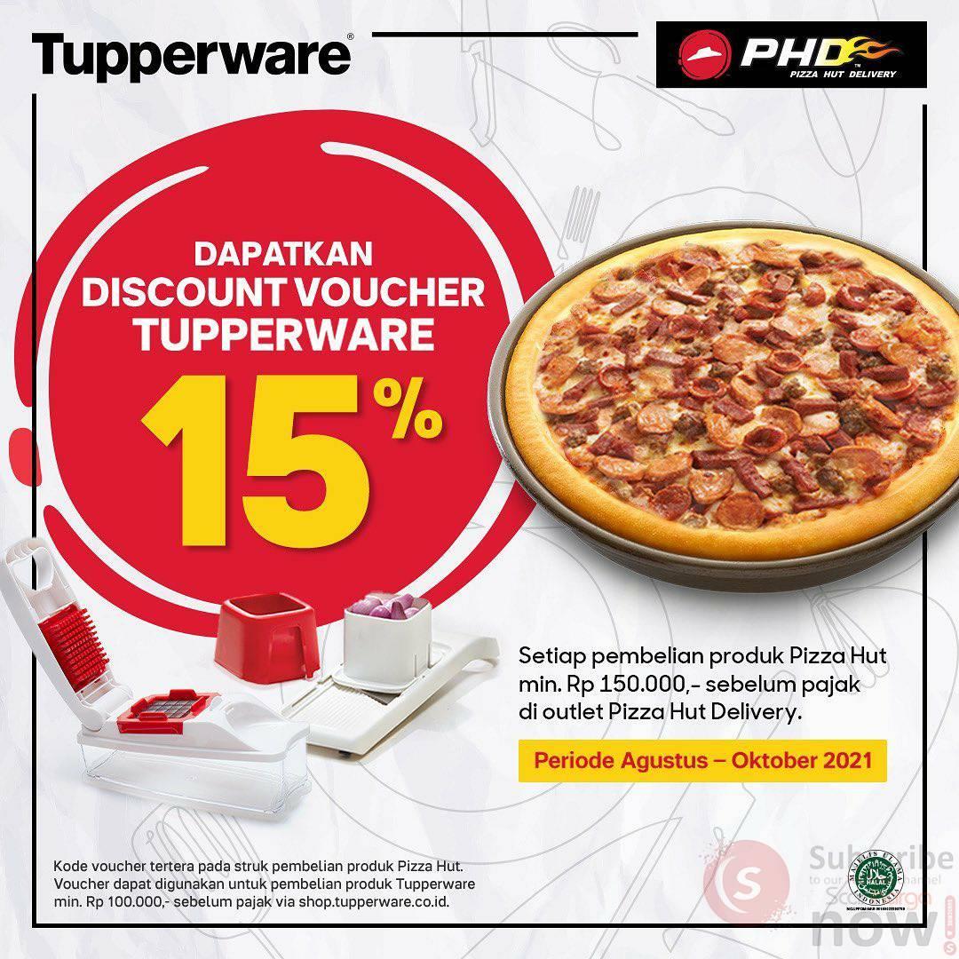Promo PHD Beli Pizza Meat Lover Diskon 15% + Voucher dari Tupperware 2