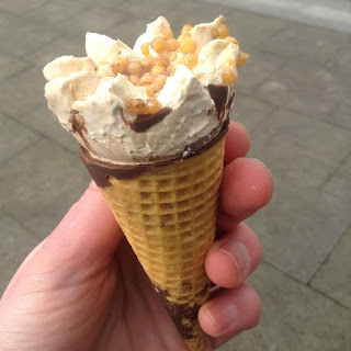 tesco free from toffee and vanilla cones