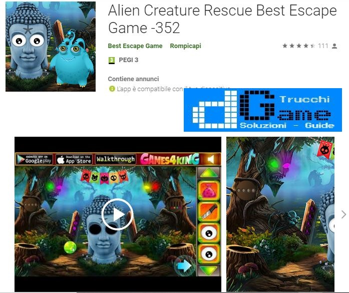 Soluzioni Alien Creature Rescue Best Escape Game -352 di tutti i livelli | Walkthrough guide