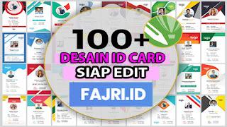 100 Desain ID Card Siap Edit Gratis