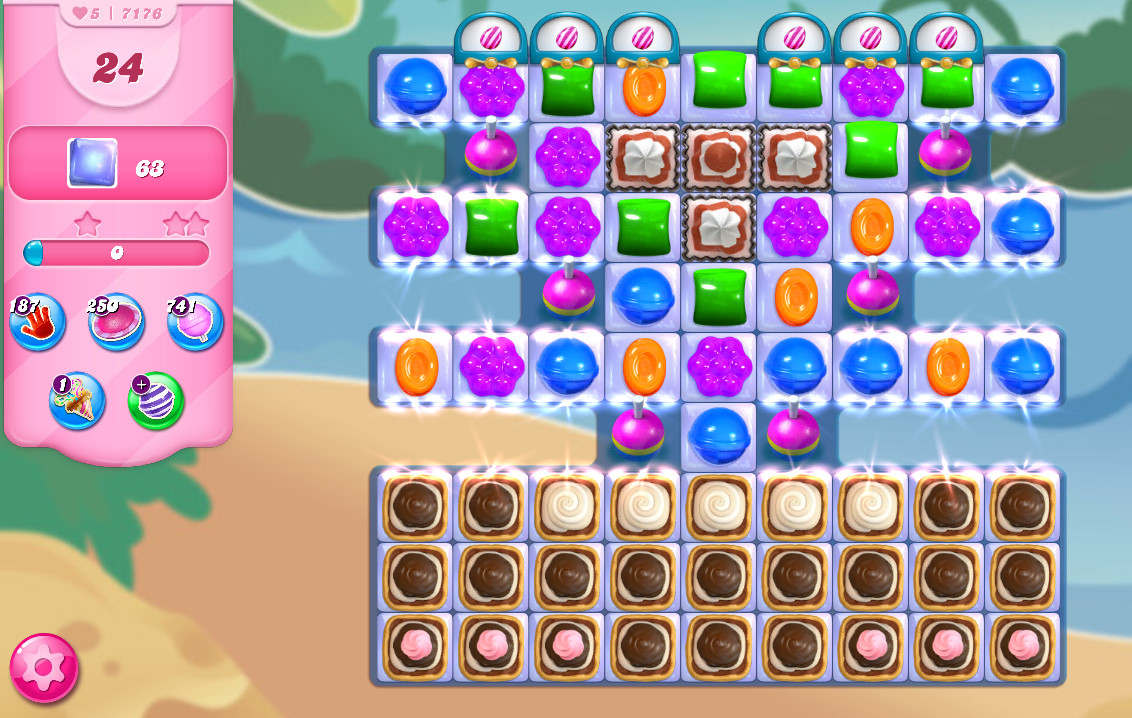 Candy Crush Saga level 7176