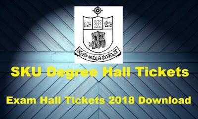 Manabadi SKU Degree Hall Tickets 2018 Download, Schools9 SKU UG Hall Tickets 2018