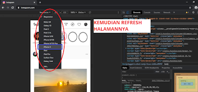 Cara Upload Foto di Instagram lewat PC - Chrome