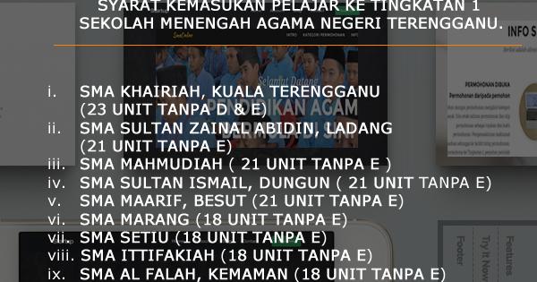 Sekolah Agama Sultan Zainal Abidin Perokok L