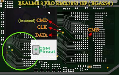 Realme 3 Pro RMX1851 ISP (EMMC) Pinout