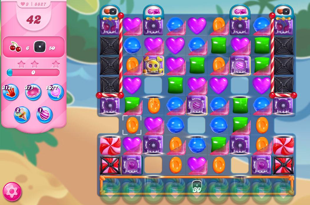 Candy Crush Saga level 8827