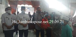 Disaksikan Walikota Jambi PT BINA MITRA ARTHA Berikan Bansos CSR 1.5 Ton Sembako