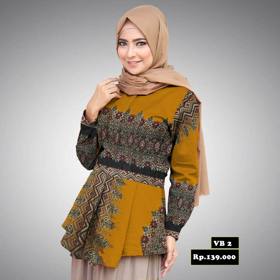 Contoh Gambar Baju Batik Modern: Model Desain Baju Batik Modern Terbaik Untuk Wanita Saat