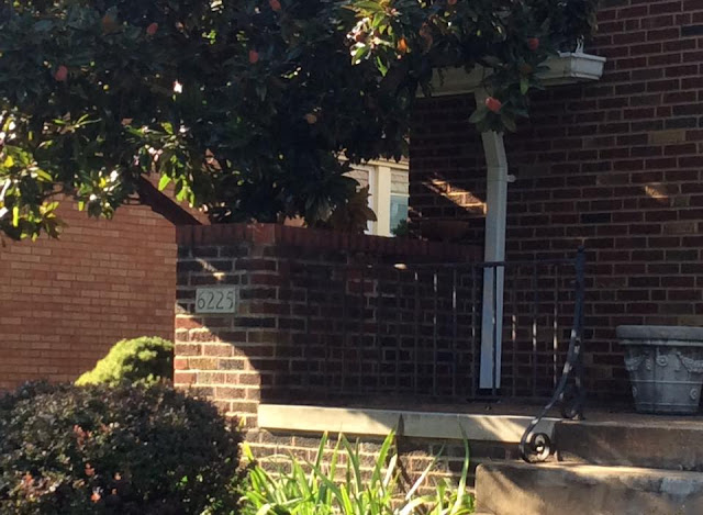 closeup of sears hillsboro street-side house number