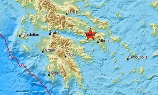 Σεισμός 3,8 Ρίχτερ τη νύχτα κοντά στη Θήβα έγινε αισθητός και στην Αργολίδα