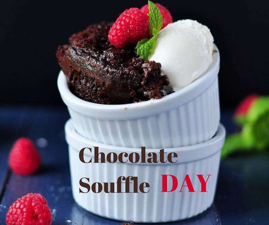 National Chocolate Souffle Day Wishes Awesome Picture