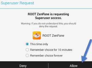 برنامج ROOT ZENFONE لتحميل الروت للاندرويد