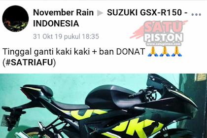 Modifikasi Suzuki Satria FU Full Fairing ala Suzuki GSX 150 RR
