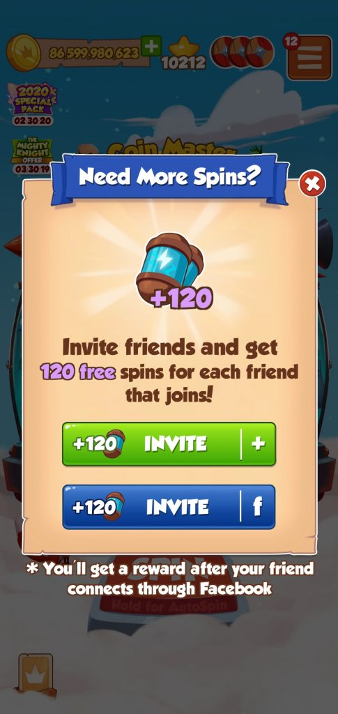coin master can t connect to facebook