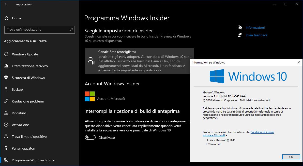 Come installare subito Windows 10 Versione 21H1