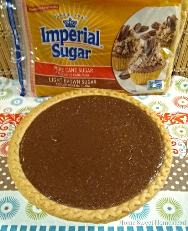 Chocolate Brown Sugar Pie with Imperial Sugar