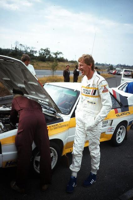 Walter Rohrl Audi Sport S1 quattro Driver Road side