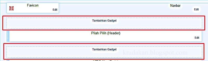 Trik memasang banner iklan di header blog pilah pilih - Div id header ...
