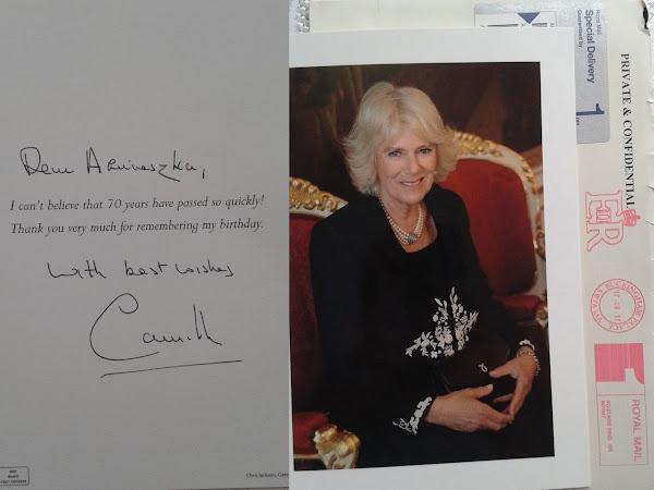 Odpowiedź od księżnej Kornwalii.