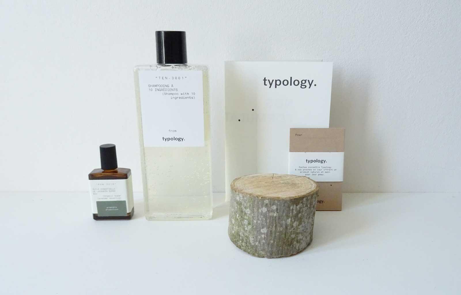 typology shampoing apaisant huile de lavandin