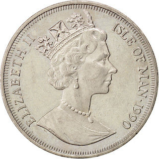 Isle of Man Coins One Crown 1990 Queen Elizabeth II